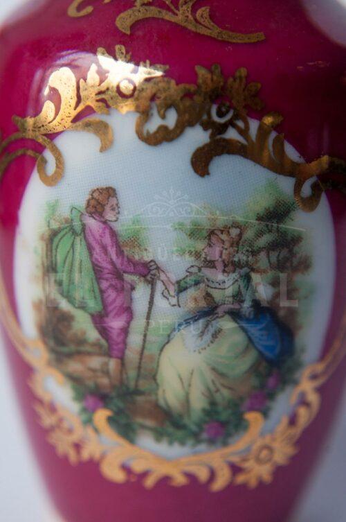 Florero en miniatura de porcelana Limoges France | 1