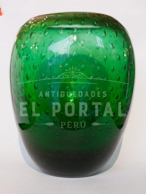 Florero de Murano color verde | 1