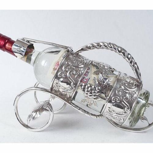 porta botella de plata 925