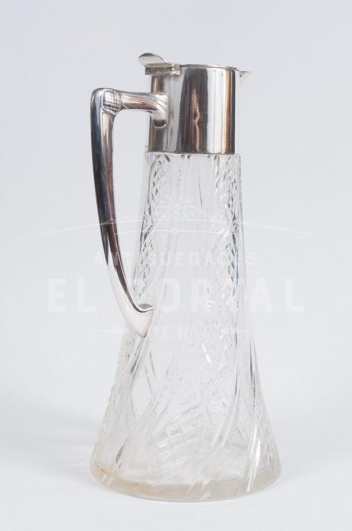 WMF Jarra Decantador de cristal con plaqué | 2
