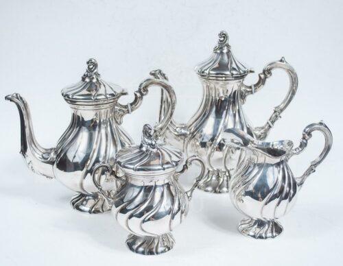 Juego de té de Plata Ley 925 - 5pzas | 1