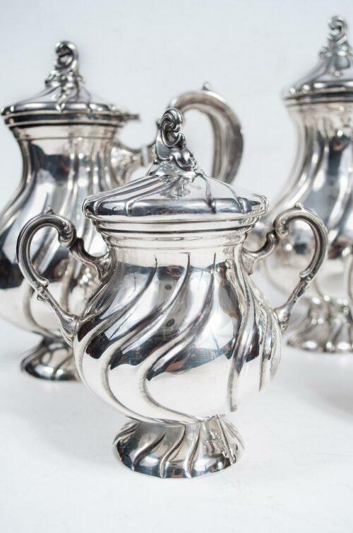 Juego de té de Plata Ley 925 - 5pzas | 2