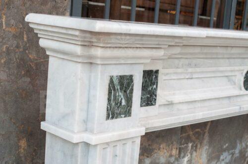 Chimenea Italiana de mármol Carrara | 1