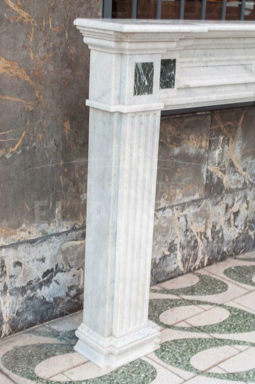Chimenea Italiana de mármol Carrara | 2