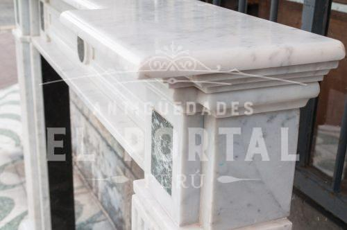 Chimenea Italiana de mármol Carrara | 4
