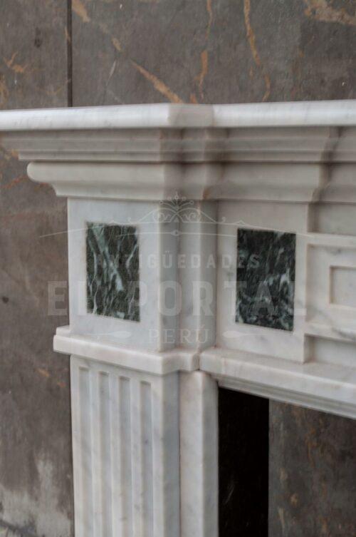 Chimenea Italiana de mármol Carrara | 5