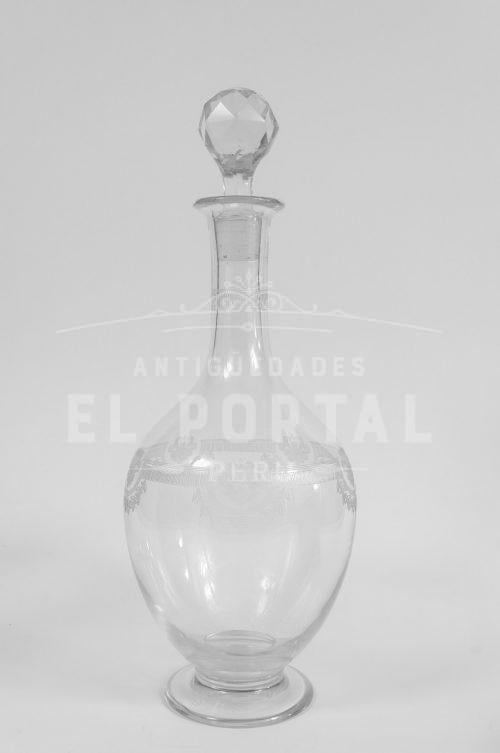 Licorera de cristal San Luis estilo Imperio | 1
