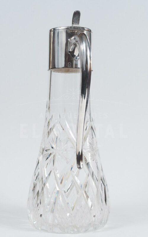 Decantador Jarra alemana de cristal y plaqué | 1