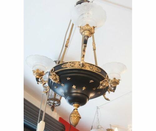 lampara-estilo-imperio-bronce-cristal