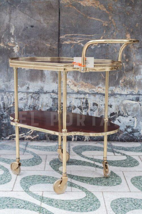 Mesa rodante de madera con bronce | 3
