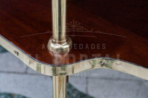 Mesa rodante de madera con bronce | 5