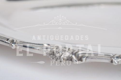 Christofle Fuente de plaqué ovalada | 2