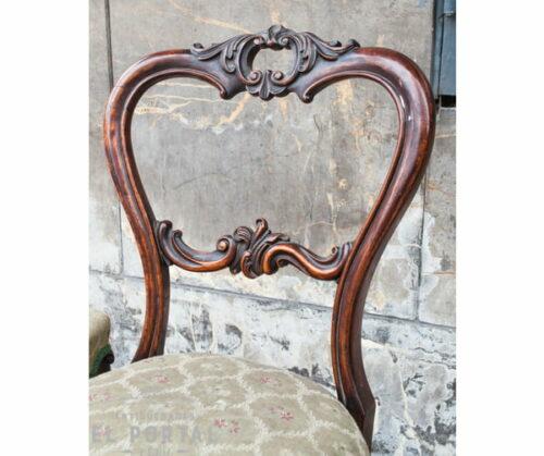 Silla estilo Victoriano madera de Palisandro   1
