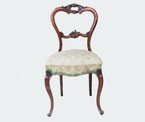 silla victoriana de palisandro