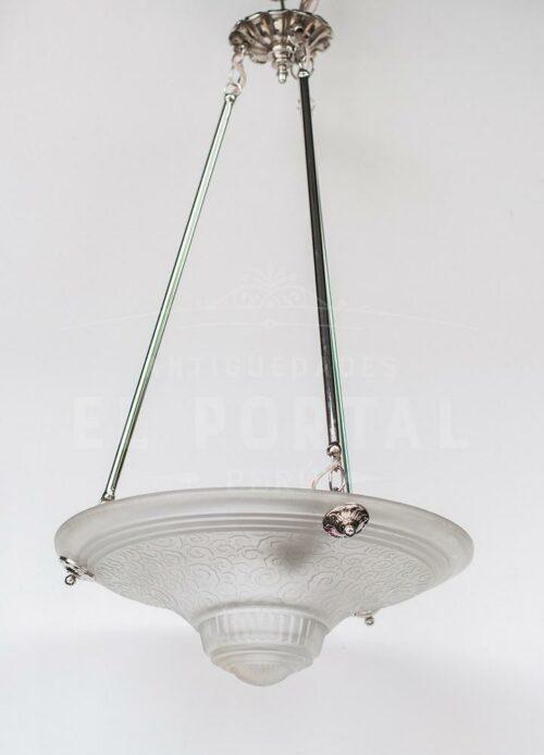 Lámpara Art Deco MULLER FRÉRES LUNEVILLE | 1