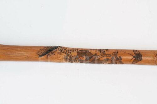 Bastón de bambú firmado por artista | 1
