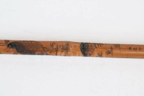 Bastón de bambú firmado por artista | 2