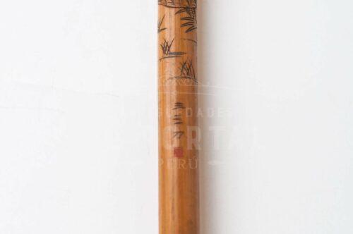 Bastón de bambú firmado por artista | 4