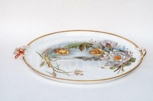 Plato oval de servir de porcelana | 7