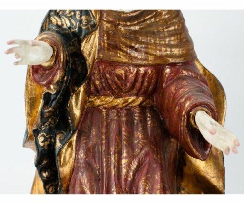 Nacimiento Belén estilo Colonial de madera tallada | 3