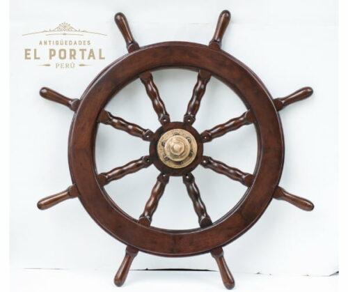 timon-de-barco-de-madera-nautico