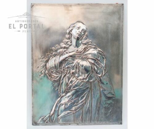 Art-nouveau-WMF-placa-decorativa-de-virgen-Inmaculada