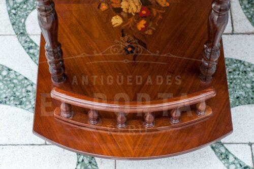 Mesa bar rodante en madera marqueteada | 6