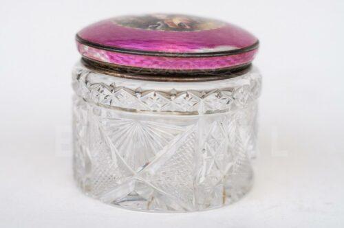 Set de tocador de plata esmaltada y cristal | 6