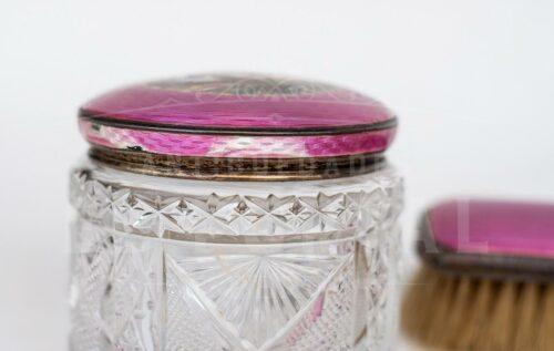 Set de tocador de plata esmaltada y cristal | 1