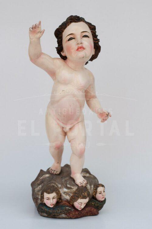 Niño Jesús en madera tallada | 1