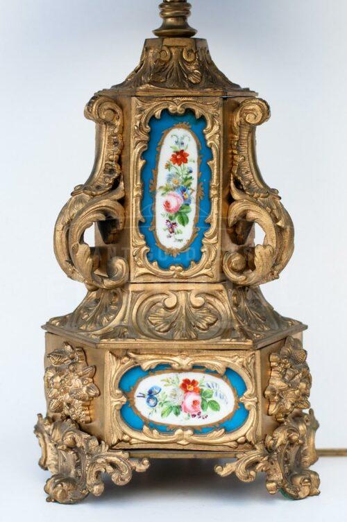 Lámpara de bronce con porcelana | 1