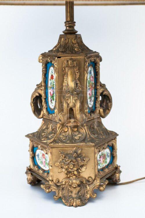 Lámpara de bronce con porcelana | 2