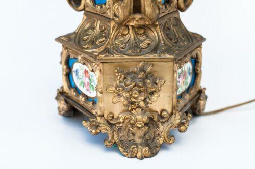 Lámpara de bronce con porcelana | 3