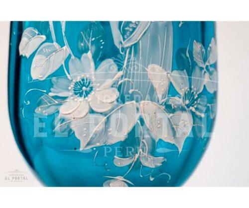 Mary Gregory Florero de cristal esmaltado | 5