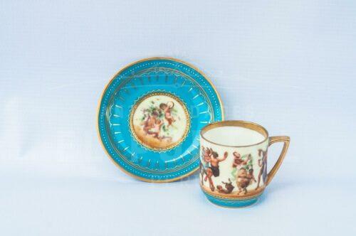 Taza de Café / Té de porcelana Royal Vienna | 1
