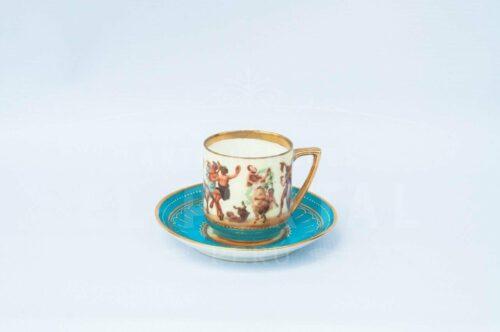 Taza de Café / Té de porcelana Royal Vienna | 2