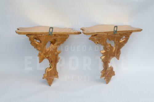 Ménsula de madera tallada en Pan de Bronce (Set 2) | 3