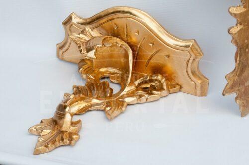 Ménsula de madera tallada en Pan de Bronce (Set 2) | 2