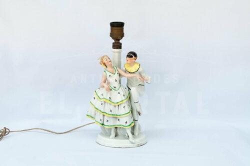 Lámpara de  mesa de porcelana Alemana | 1