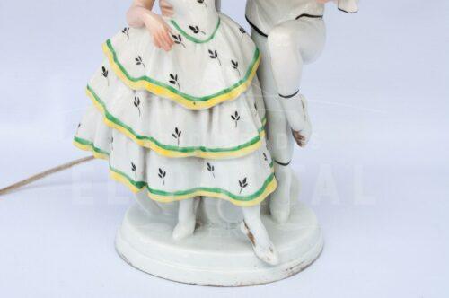 Lámpara de  mesa de porcelana Alemana | 6