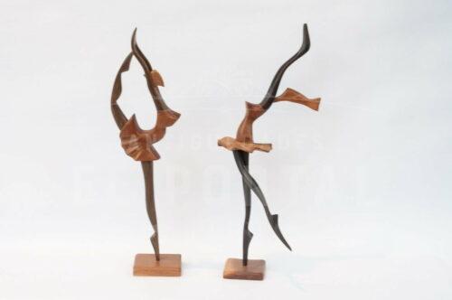 Bailarinas de Ballet en madera tallada | 1