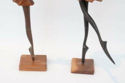Bailarinas de Ballet en madera tallada | 2