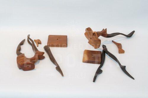 Bailarinas de Ballet en madera tallada | 3