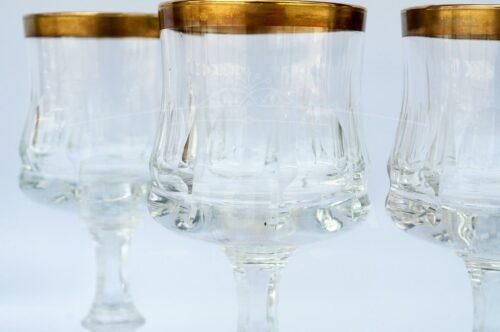 Copa de Vino con filo dorado  (Set 4) | 3