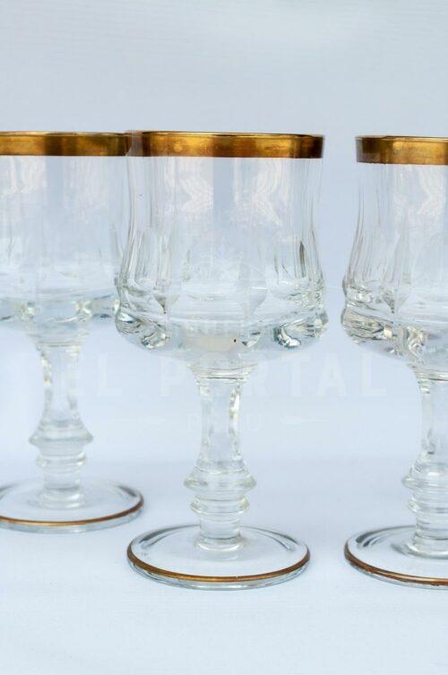 Copa de Vino con filo dorado  (Set 4) | 2