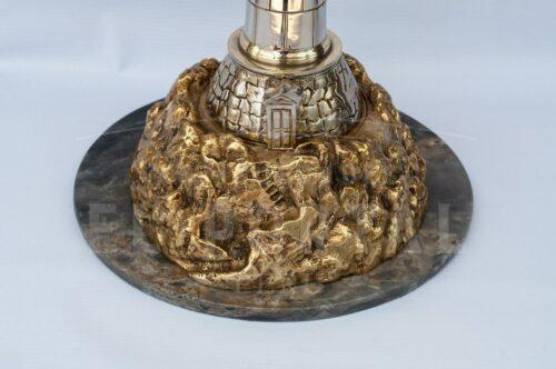 Faro de bronce con base de mármol | 2