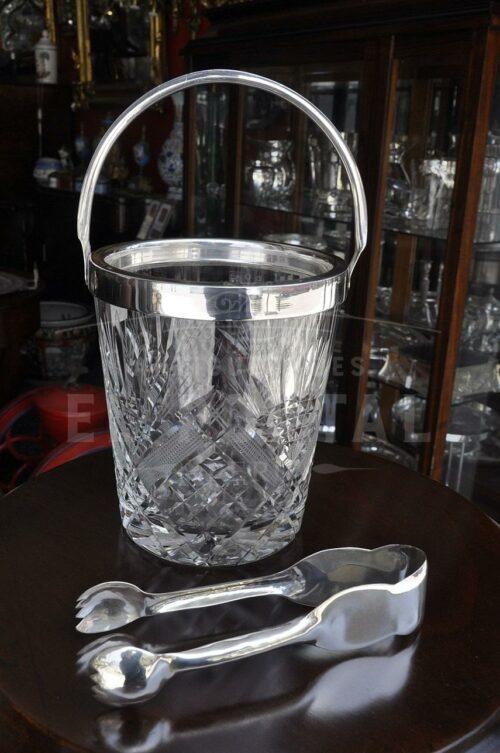 Hielera de cristal con plaqué | 4