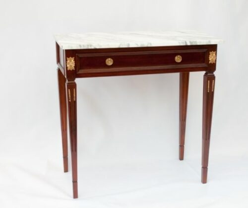 Consola Mesa estilo Imperio de madera con mármol | 1