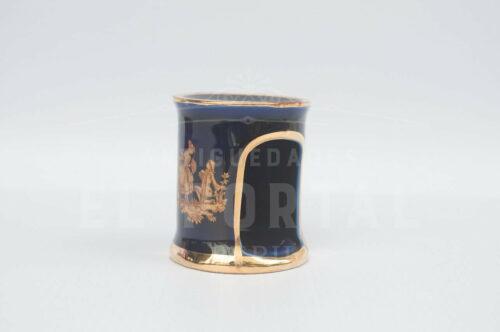 Limoges - Calentador de tetéra en miniatura azul cobalto | 1