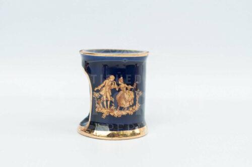 Limoges - Calentador de tetéra en miniatura azul cobalto | 4